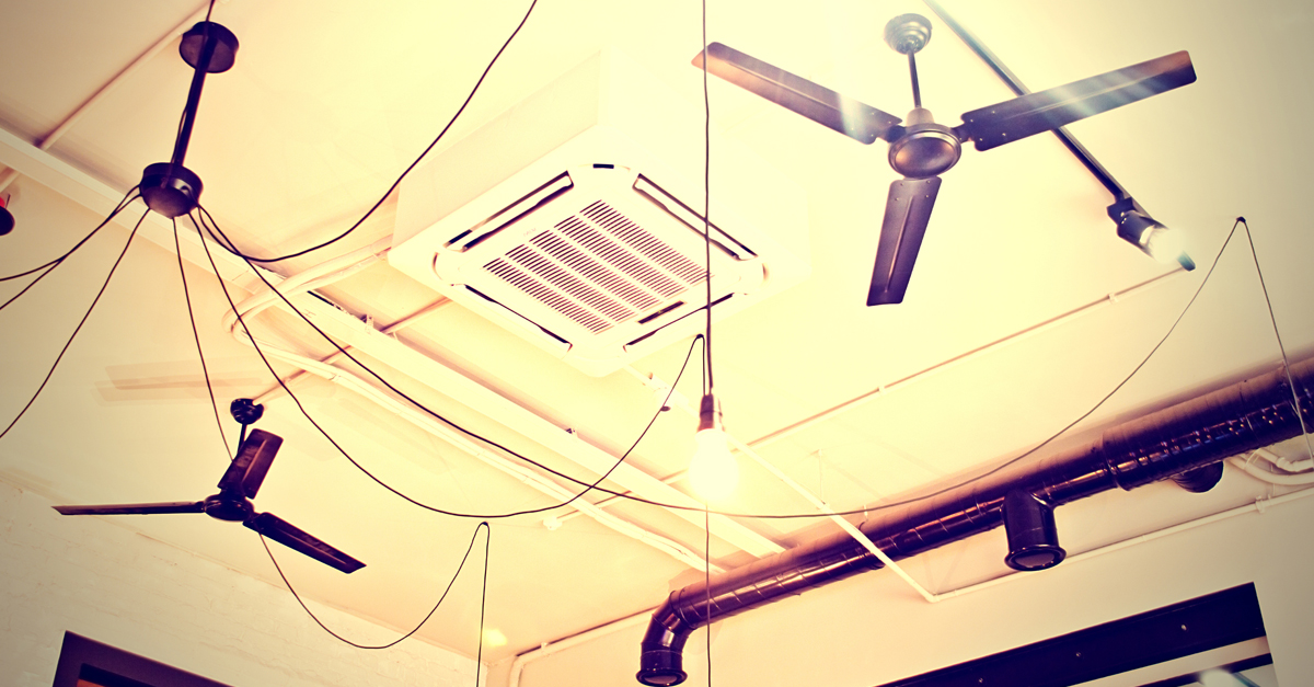 air conditioning and ceiling